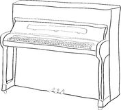 piano stock illustrationer