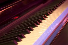 Piano. Closeup of a modern electrical piano at a night club. Shallow DOF Stock Images