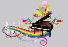 Piano illustration stock
