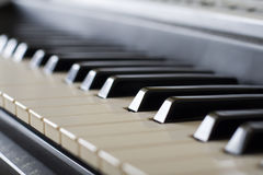 Piano. Electric piano keys close-up Royalty Free Stock Photo