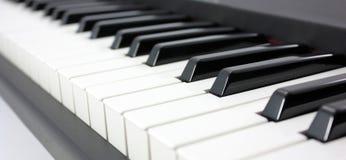 Piano. Keys of ivory and ebony color close-up Royalty Free Stock Image