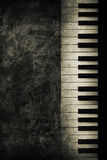 Piano. Old historically keyboard in retro design look Stock Photo