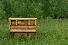 Piano abandonné avec l'espace de copie Image libre de droits