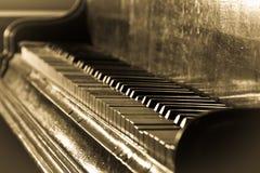 Piano antico Immagini Stock