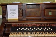 Piano antigo Foto de Stock