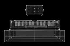 Piano antigo com trajeto Imagens de Stock