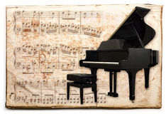 Piano antique Photographie stock