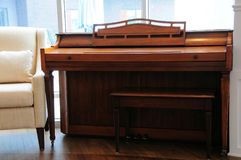 Piano. In an apartment building for retirees in the City of Terrebonne, in the Province of Quebec, Canada Royalty Free Stock Image