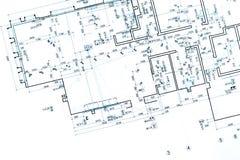 Modello della pianta della casa disegno tecnico parte for Software di piano architettonico