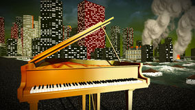 Piano as a symbol of defiance Stock Photo