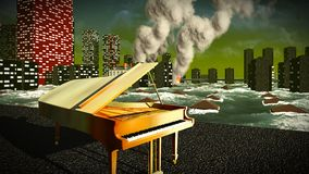 Piano as a symbol of defiance Stock Photography