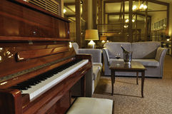 Piano au bar Images libres de droits