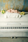 Piano baby Royalty Free Stock Photography