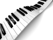 Piano background. Abstract 3d illustration of white background with piano keys Royalty Free Stock Images