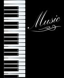 Piano background Royalty Free Stock Images