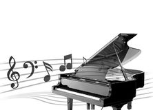 Piano background. Black and white design for piano background Stock Image