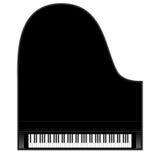 Piano background stock illustration