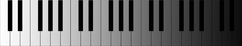 Piano banner Royalty Free Stock Images