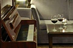 Piano at the bar Royalty Free Stock Photo