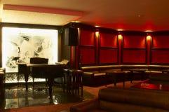 Piano bar. And mega lights Royalty Free Stock Image