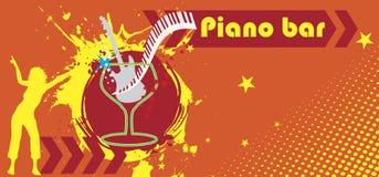 Piano bar banner Royalty Free Stock Photos