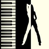 Piano bar brochure Royalty Free Stock Photography
