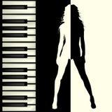Piano bar brochure Stock Images