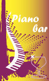 Piano bar.Vertical banner. Stock Photography