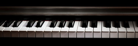 Piano. Black and white keys of the piano Stock Image