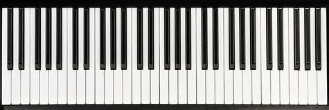 Piano black and white keys Stock Photo