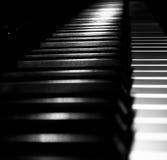 The Piano. Black and white piano shot Royalty Free Stock Photo