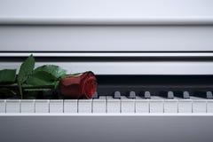 Piano blanc Images libres de droits