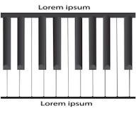 Piano blanco y negro de la nota del vector con el fondo blanco libre illustration