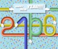 piano 2016 buoni anni Fotografie Stock