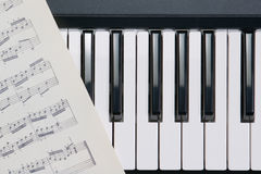 Piano buttons Stock Photography