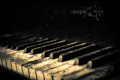Piano buttons close up Stock Images