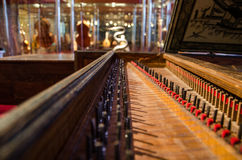 Piano chords at the museum of music instruments in Barcelona. Stock Photography