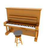 Piano clásico de Brown Foto de archivo libre de regalías