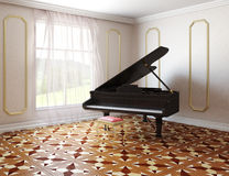 Piano in classic style room Stock Image