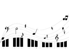 Piano and clef Stock Image