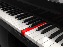 Piano (clipping path included) Royalty Free Stock Photography