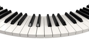 Piano (clipping path included) Royalty Free Stock Images