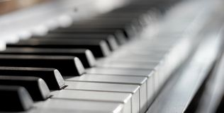 Piano - close up Royalty Free Stock Photo