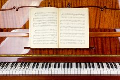 Piano close up, piano claps. Background. Piano close up, piano claps. black and white Royalty Free Stock Image