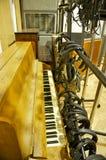 Piano Closeup; Abbey Road Studios, London. Challen Piano in Studio 2 of Abbey Road Studios Portrait Mode Stock Photography