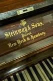 Piano Closeup; Abbey Road Studios, London. Close-up of Steinway Vertegrand Piano keys; studio 2 of Abbey Road Studios. Used on several Beatles-recordings, like Stock Photo