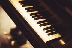 Piano Closeup Stock Images