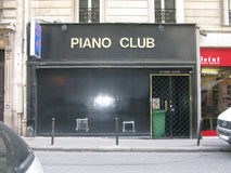 Piano Club entrance Royalty Free Stock Images