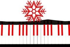Piano con concepto de la Navidad fotografía de archivo libre de regalías