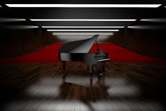 Piano in concert. Room view from stage Stock Photo